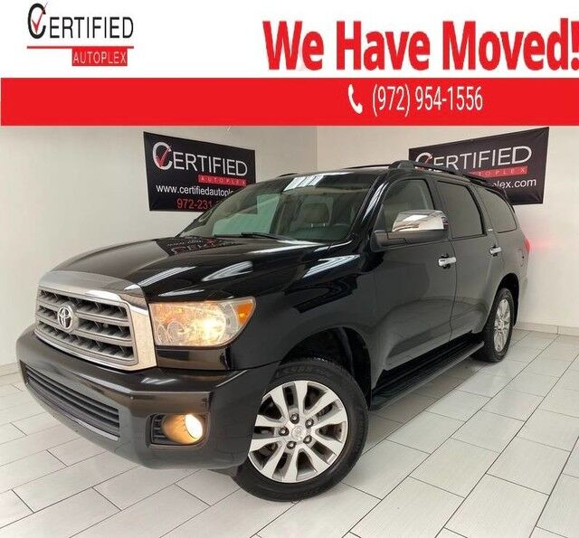 2008 Toyota Sequoia LIMITED SUNROOF REAR CAMERA PARK ASSIST REAR ENTERTAINMENT 2ND ROW CAPTAIN Dallas TX