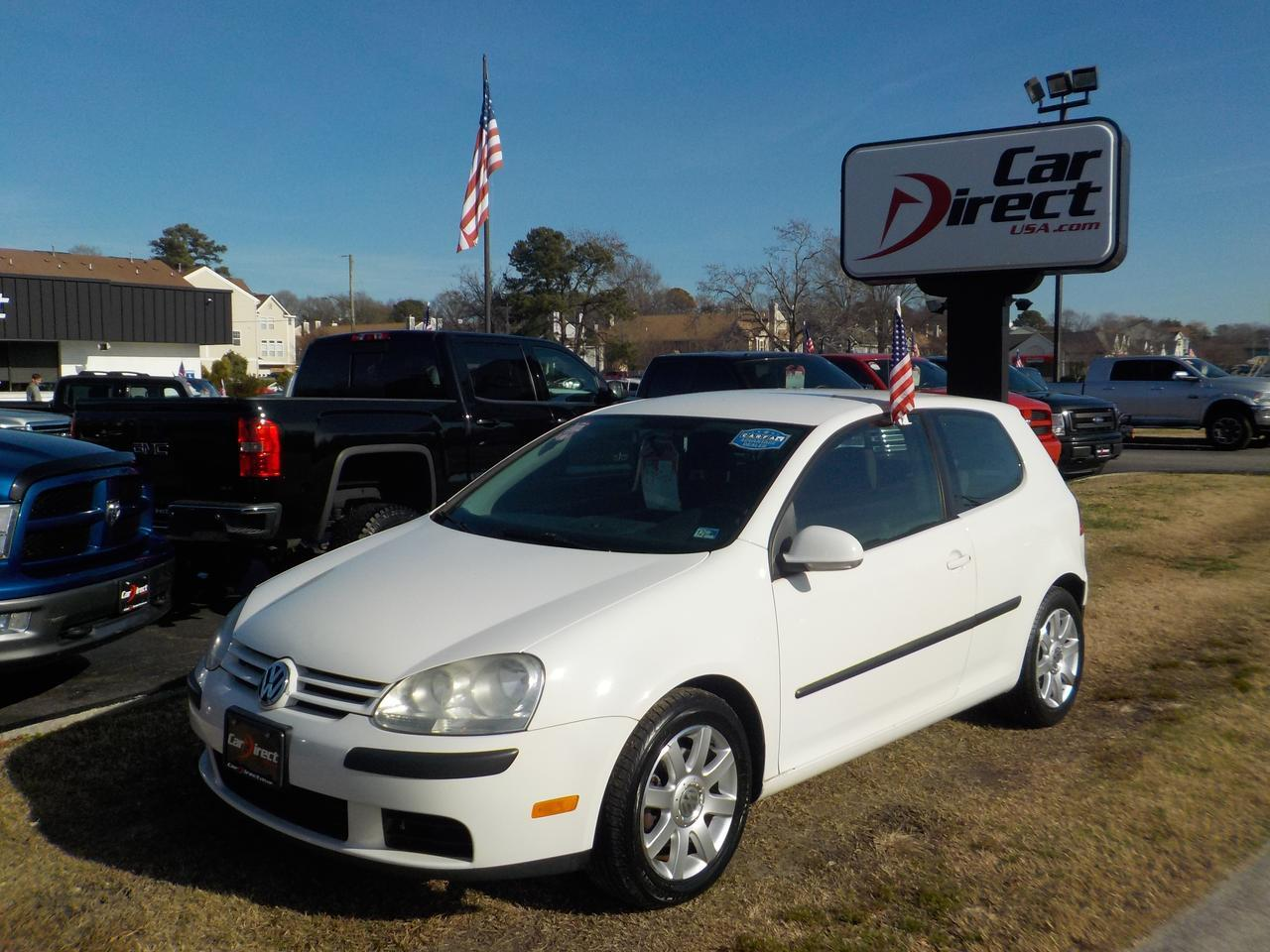 2008 VOLKSWAGEN RABBIT S HATCHBACK, WARRANTY, DAYTIME RUNNING LIGHTS, KEYLESS ENTRY, CRUISE CONTROL, POWER MIRRORS!