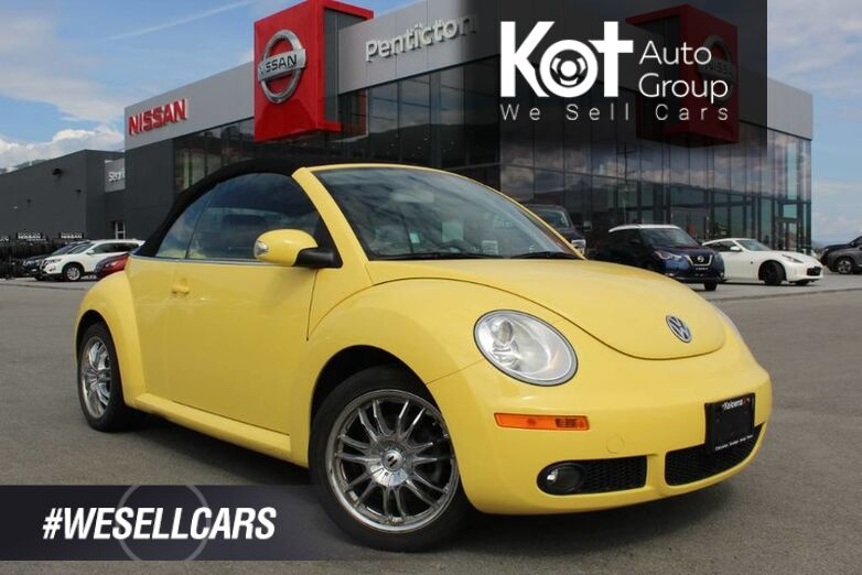 2008 Volkswagen New Beetle Convertible Trendline, An Eye Catching Sunflower Yellow Exterior Kelowna BC