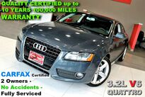 Audi A5 3.2L V6 QUATTRO - CARFAX Certified 2 Owners - No Accidents - Fully Serviced QUALITY CERTIFIED up to 10 YEARS 100,000 MILES WARRANTY 2009