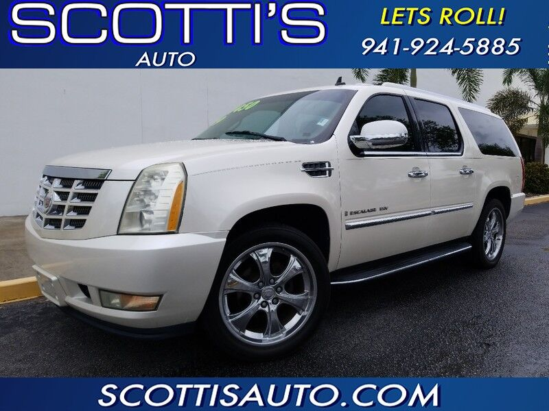 2009 Cadillac Escalade ESV LUXURY EDITION~ WHITE/TAN~ 3RD ROW SEAT! NAVIGATION~LOADED!