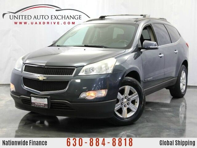 2009 Chevrolet Traverse 3.6L V6 Engine FWD **3rd Row Seats** LT w/1LT Sunroof, Rear Climate Control, Rear DVD Entertainment System, Bose Premium Sound System, Heated Leather Seats Addison IL