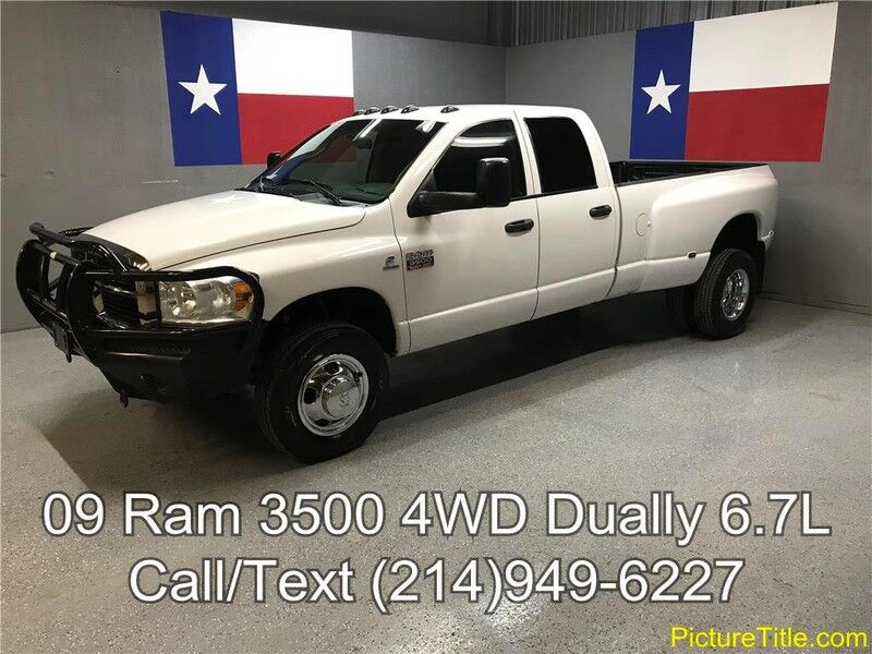 2009 Dodge Ram 3500 09 SLT 4WD Crew 6.7L Cummins Diesel Dually Leather