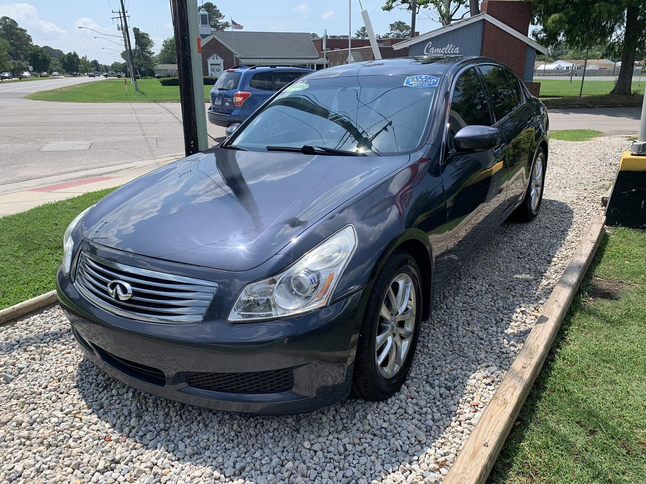 2009 INFINITI G37 JOURNEY, WARRANTY, LEATHER, BACKUP CAM, HEATED SEATS, AUX/USB PORT, CLEAN CARFAX! Norfolk VA
