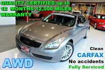 INFINITI G37 Coupe x - Clean CARFAX - No accidents - Fully Serviced - QUALITY CERTIFIED up to 12 MONTHS , 12, 000 MILES WARRANTY 2009