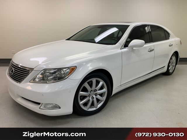2009 Lexus LS 460 LWB Luxury Package Pearl White Prior Lexus Certified Clean Carfax Mark Levinson Backup Camera Addison TX