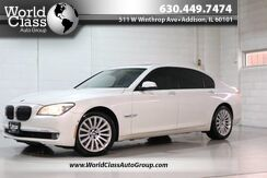 2010_BMW_7 Series_750Li xDrive - AWD SUN ROOF NAVIGATION WOOD GRAIN INTERIOR BACK UP CAMERA HEATED POWER LEATHER SEATS POWER TRUNK REAR MIRRORS REAR HEATED SEATS & CLIMATE CONTROL REAR POWER SHADES TINTED WINDOWS PUSH BUTTON START PARKING ASSIST_ Chicago IL