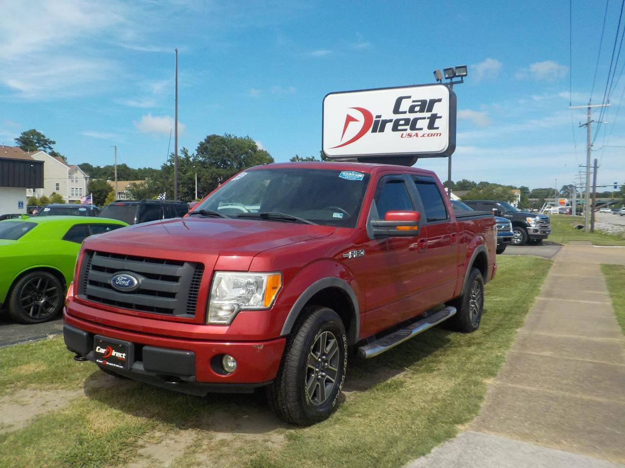 2010 FORD F-150 FX4 SUPERCREW 4X4, SONY SOUND, SOFT TONNEAU COVER, NAVIGATION, MOONROOF, PARKING SENSORS, BLUETOOTH!