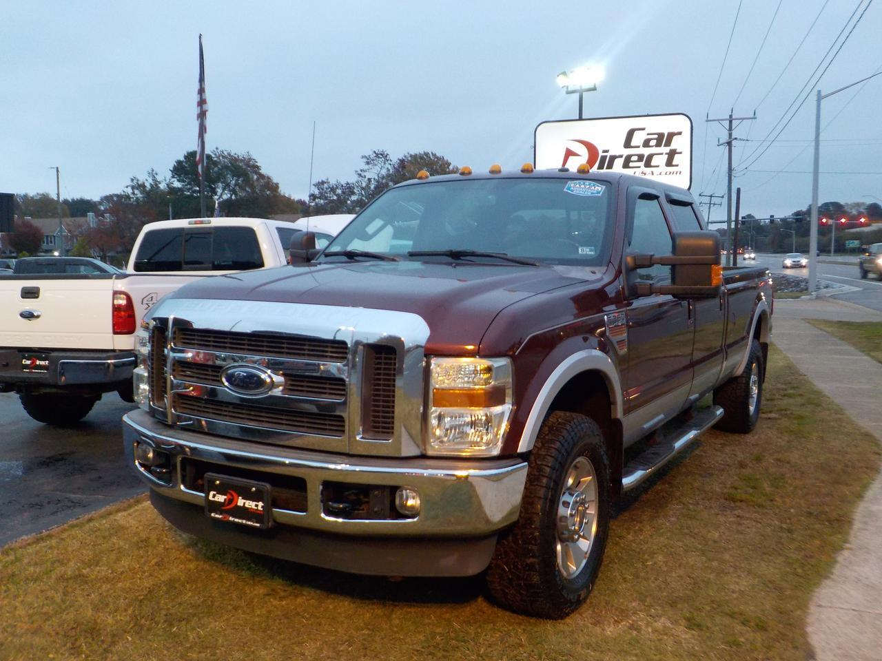2010 FORD F-250 LARIAT SUPER DUTY 4X4, 6.4L POWERSTROKE DIESEL, LONG BED, LEATHER SEATS, REMOVEABLE BED COVER!!!