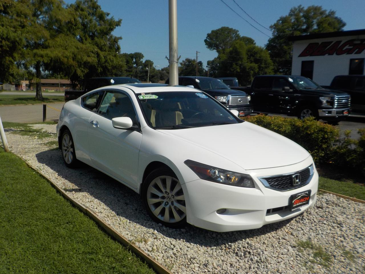 2010 HONDA ACCORD EX-L COUPE, WARRANTY, LEATHER, SUNROOF, MYCONNECT, SATELLITE RADIO!