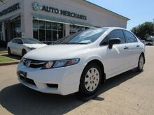 2010_Honda_Civic_DX-VP, 5 SPEED MANUAL, PWR WINDOWS, CLOTH SEATS, AM/FM/CD/AUX_ Plano TX