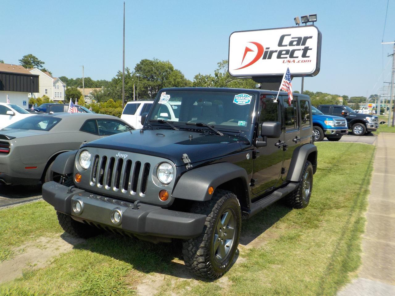 2010 JEEP WRANGLER UNLIMITED SPORT 4X4, CARFAX ONE OWNER, RUNNING BOARDS, FENDER FLARES, TOW, AUX PORT, CLIMATE CONTROL Virginia Beach VA