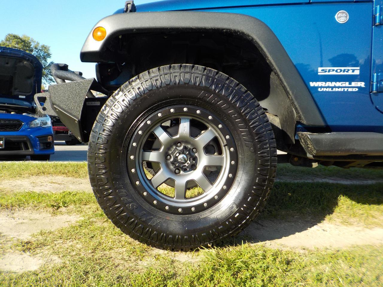 2010 JEEP WRANGLER UNLIMITED SPORT 4X4, FUEL WHEELS, HARD TOP, TOW PACKAGE, BRUSH GUARD, ONLY 31K MILES! Virginia Beach VA