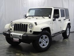 2010_Jeep_Wrangler Unlimited_Sahara / 3.8L V6 Engine / 4WD / Touch Screen Navigation / Rear View Camera / Leather Seats / Power Locks and Windows_ Addison IL