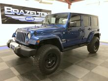 2010_Jeep_Wrangler Unlimited_Sahara, Leather, Nav, Lift, Heated Seats, Tow Pkg_ Houston TX