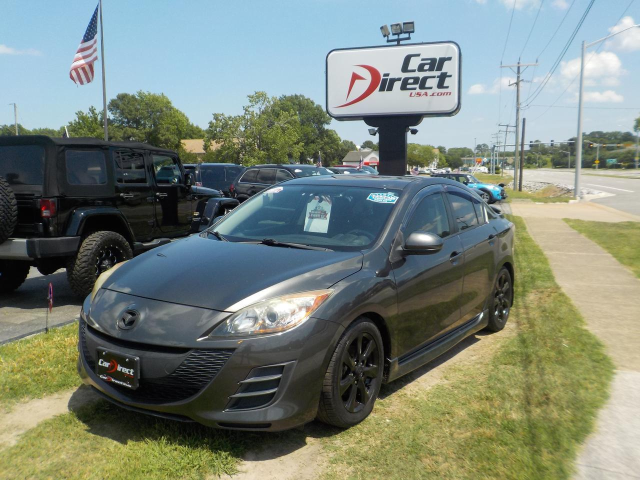 2010 MAZDA MAZDA3 i TOURING, WARRANTY, CD PLAYER, A/C, REAR SPOILER, LOW MILES ONLY 73K!!