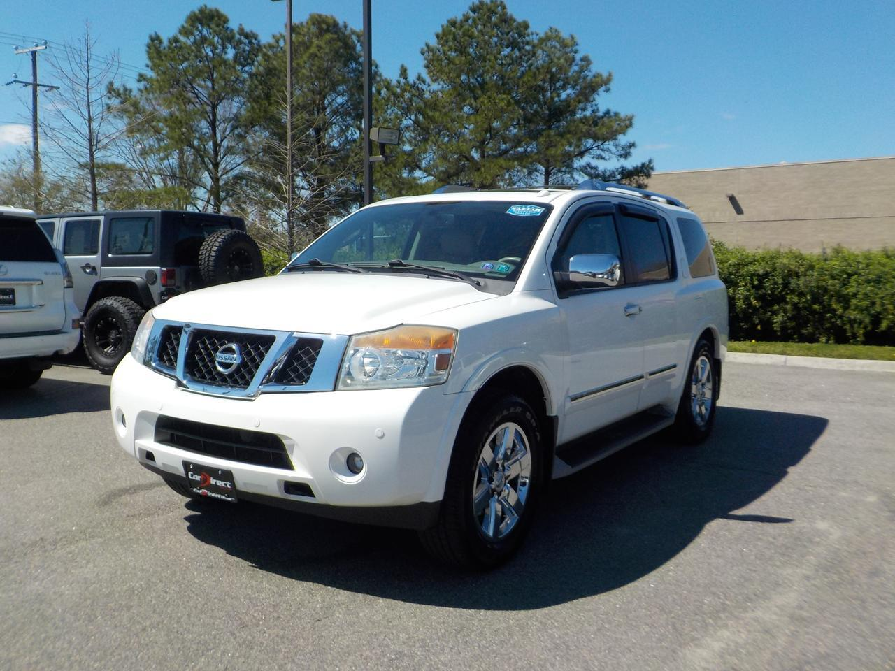 2010 NISSAN ARMADA PLATINUM 4X4, LEATHER, 3RD ROW SEATING, BOSE PREMIUM SOUND, DVD, NAVIGATION, SUNROOF!! Virginia Beach VA