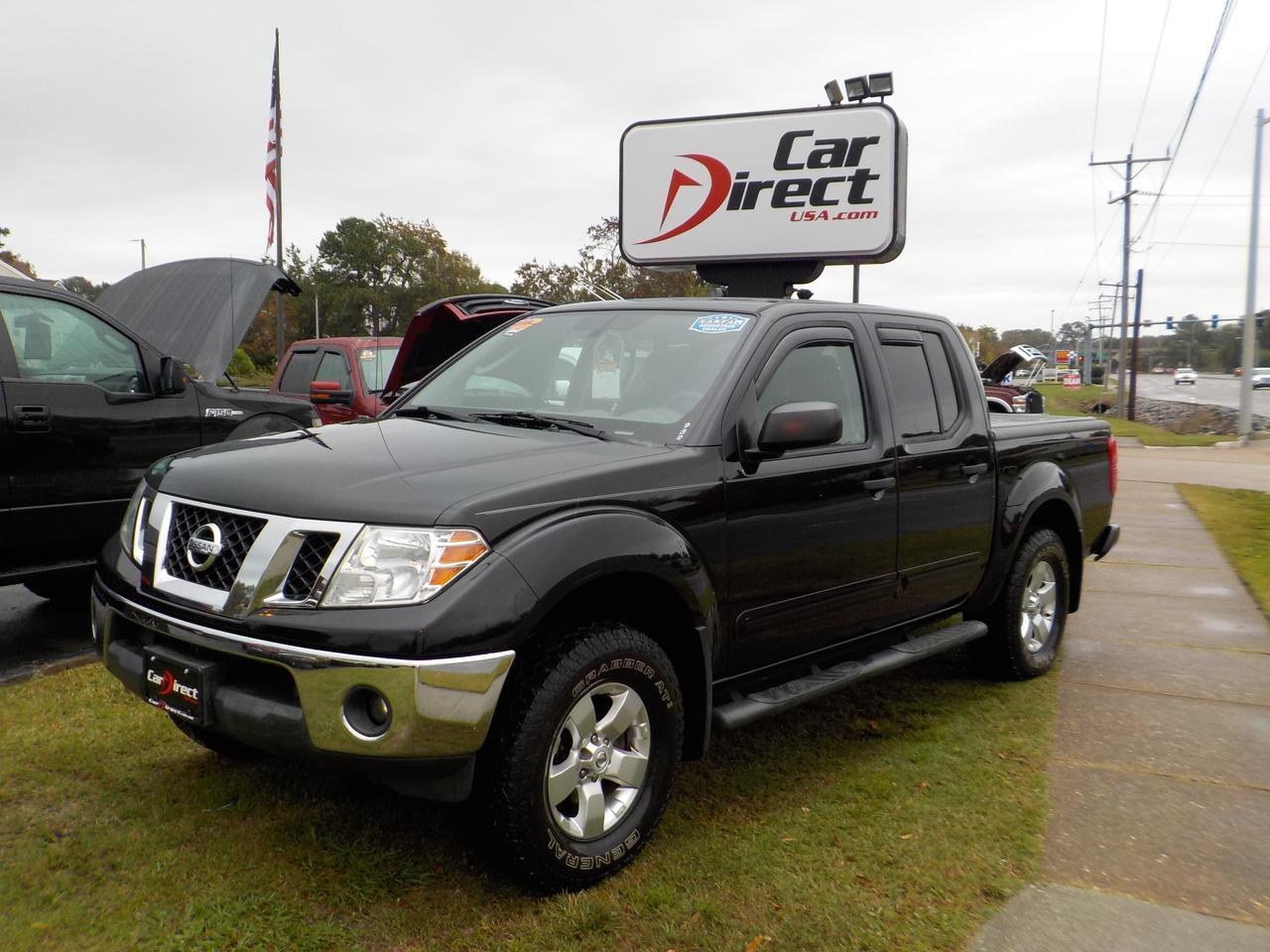 2010 NISSAN FRONTIER SE CREW CAB 4X4, WARRANTY, BLUETOOTH, BED LINER, SOFT TONNEAU COVER, KEYLESS ENTRY!!!