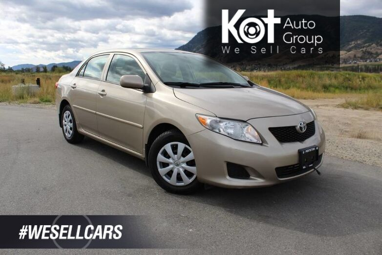 2010 Toyota Corolla CE, Manual, Great on Fuel Kelowna BC