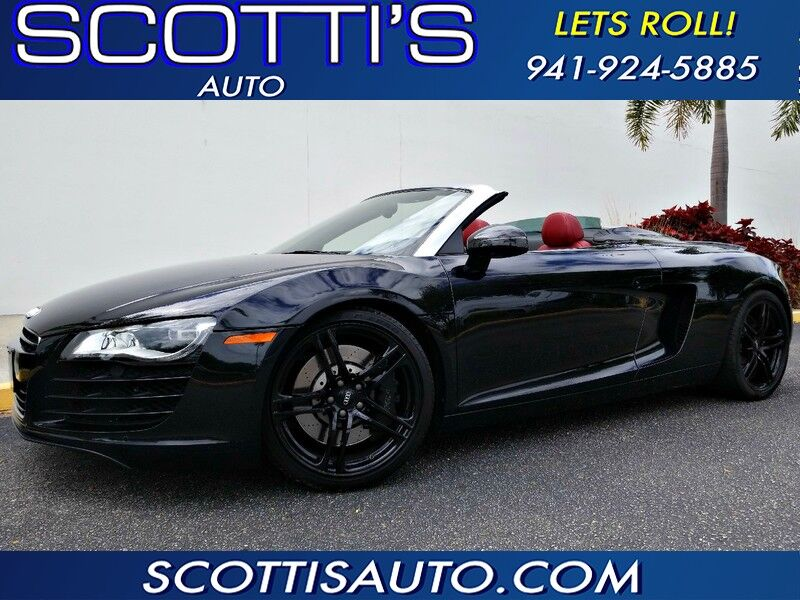 2011 Audi R8 SPYDER~ 1-OWNER~ WELL SERVICED~ CLEAN CARFAX~ FINANCE AVAILABLE! CONTACT US TODAY! 4.2L Sarasota FL