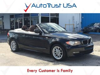 BMW 1 Series 128i CONVERTIBLE CLEAN CARFAX LEATHER BLUETOOTH 2011