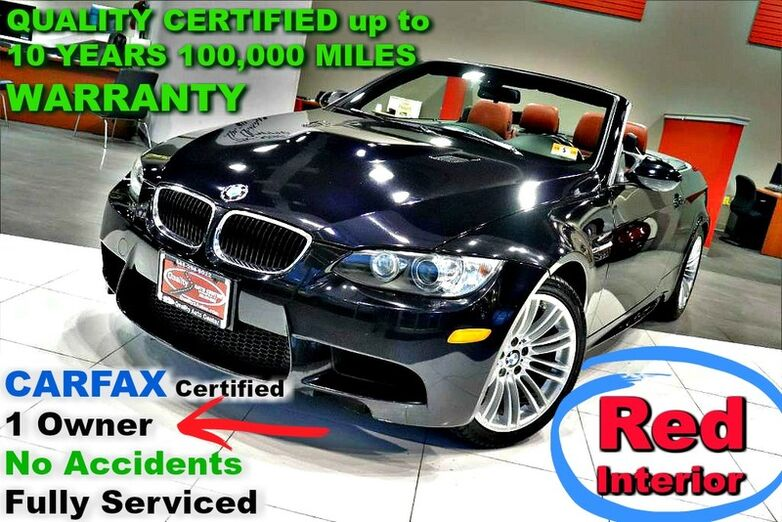 2011 BMW M3 Conv. CARFAX Certified 1 Owner - No Accidents - Fully Serviced - QUALITY CERTIFIED up to 10 YEARS 100,000 MILES WARRANTY - 4.0L V8 S/C 414 HP - Hard Top Convertible - Springfield NJ