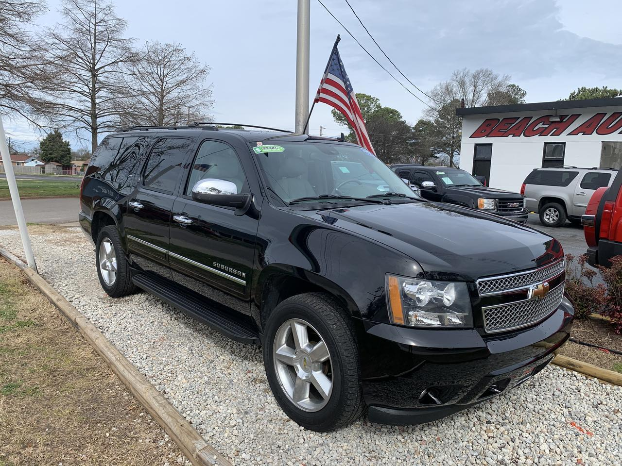 2011 CHEVROLET SUBURBAN LTZ 4X4, WARRANTY, LEATHER, SUNROOF, HEATED/COOLED SEATS, 3RD ROW, DVD PLAYER, NAV, 1 OWNER! Norfolk VA