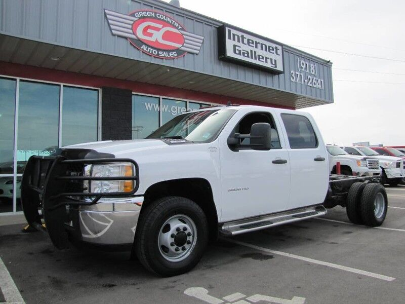 2011 Chevrolet 3500HD Crew Cab 4x4 Diesel Chass DRW Work Truck