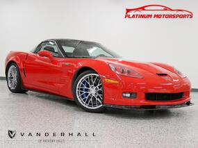 Chevrolet Corvette ZR1 w3ZR 1 Owner Only 98 In Torch Red Nav Heated Seats Carbon Everywhere Factory Chrome Wheels Loaded 2011