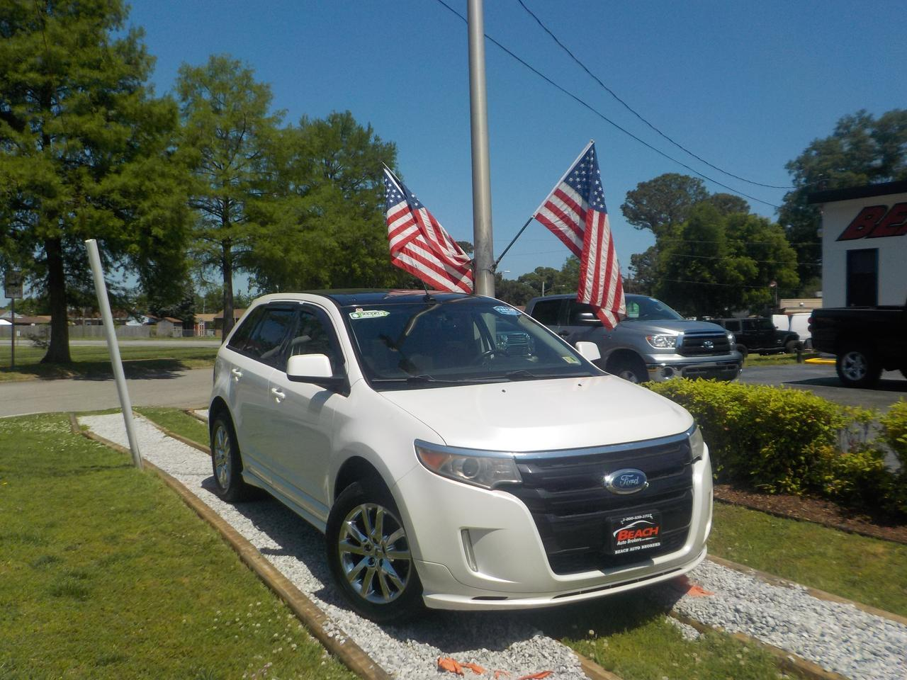 2011 FORD EDGE SPORT, WARRANTY, LEATHER, SUNROOF, REMOTE START, NAV, HEATED/COOLED SEATS, POWER LIFTGATE!