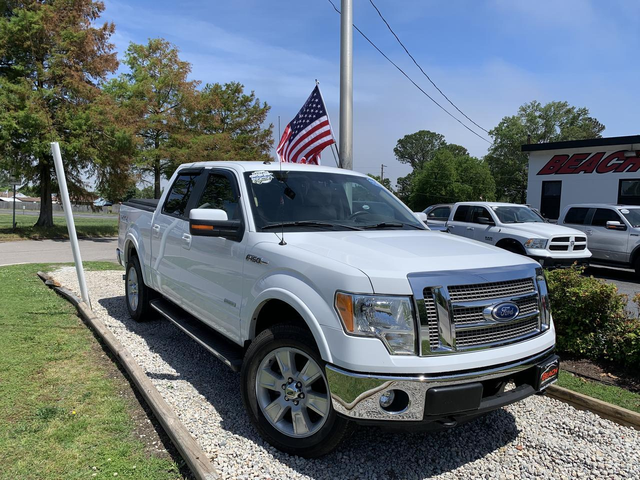 2011 FORD F-150 LARIAT SUPER CREW 4X4, WARRANTY, LEATHER, HEATED SEATS, OFF ROAD PKG, SIRIUS RADIO, BLUETOOTH!