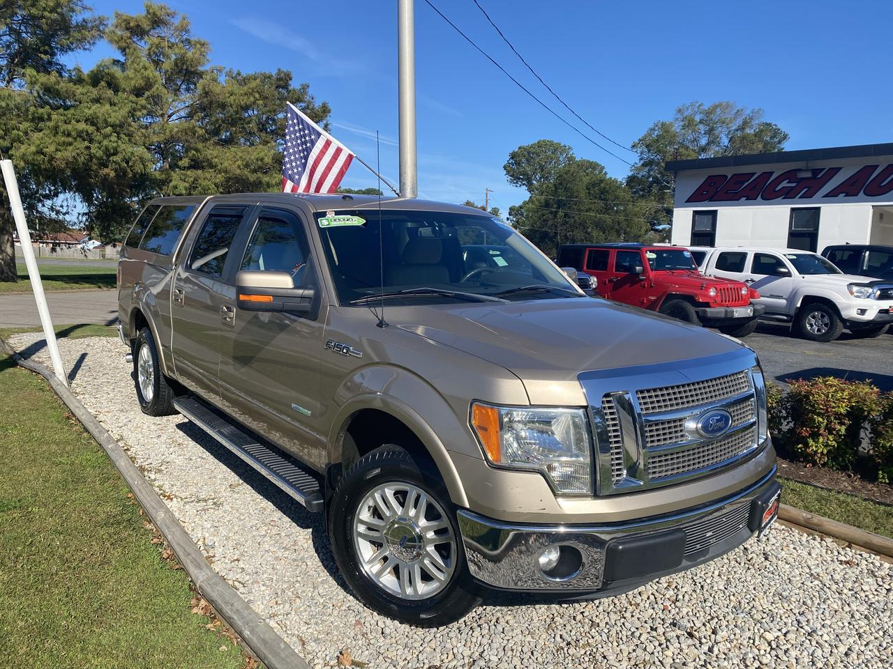 2011 FORD F-150 LARIAT SUPERCREW, WARRANTY, LEATHER, HEATED/COOLED SEATS, BLUETOOTH, BACKUP CAM, CLEAN CARFAX! Norfolk VA