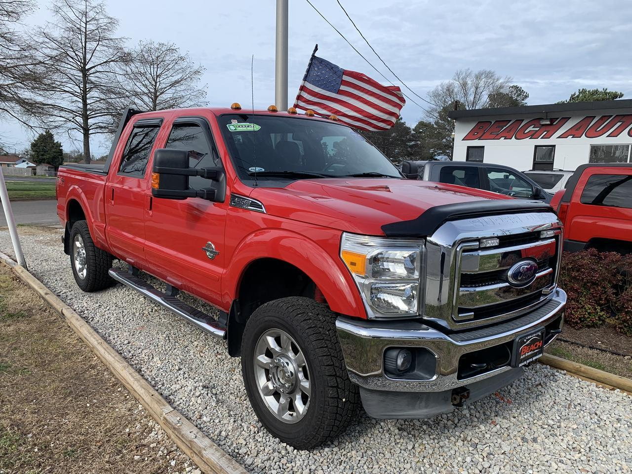 2011 FORD F-350 LARIAT CREW CAB 4X4, WARRANTY, LEATHER, FX4 OFF ROAD PKG, HEATED/COOLED SEATS,NAV, SUNROOF, 1 OWNER! Norfolk VA