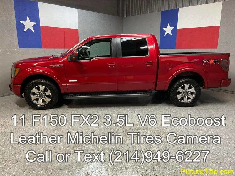 2011 Ford F-150 2011 FX2 Leather 3.5L Ecoboost Michelin Tires Camera Arlington TX
