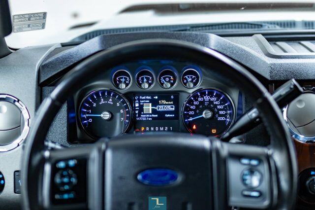 2011 Ford F-250 4x4 Super Cab Lariat Longbox Leather Nav BCam Red Deer AB