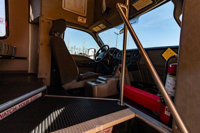 2011 Ford F-550 XL Diesel 28 Passenger Bus Bathroom PA System Red Deer AB