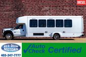 2011 Ford F-550 XL Diesel 28 Passenger Bus Bathroom PA System