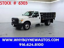 2011_Ford_F350_~ Liftgate ~ 9ft. Stake Bed ~ Only 27K Miles!_ Rocklin CA