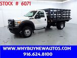 2011 Ford F550 ~ Liftgate ~ 12ft. Stake Bed ~ Only 67K Miles!