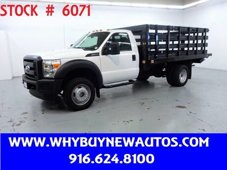 2011 Ford F550 ~ Liftgate ~ 12ft. Stake Bed ~ Only 67K Miles! Rocklin CA