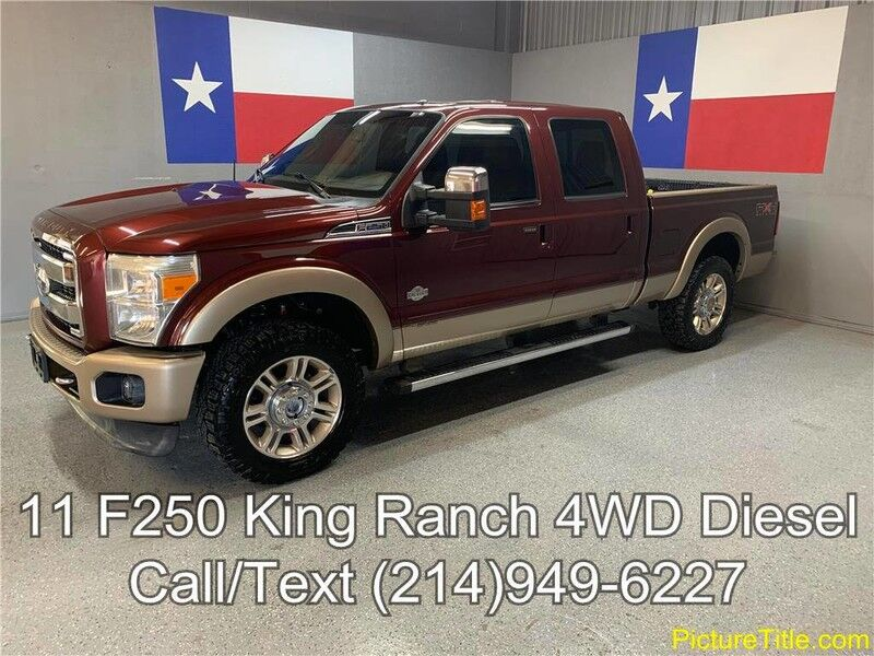 2011 Ford Super Duty F-250 SRW 2011 King Ranch FX4 6.7 Diesel GPS Navi Camera Sunroof