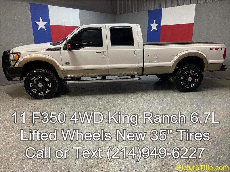2011 Ford Super Duty F-350 SRW 2011 King Ranch 4WD 6.7L Diesel Lifted New 35's Long Bed Arlington TX