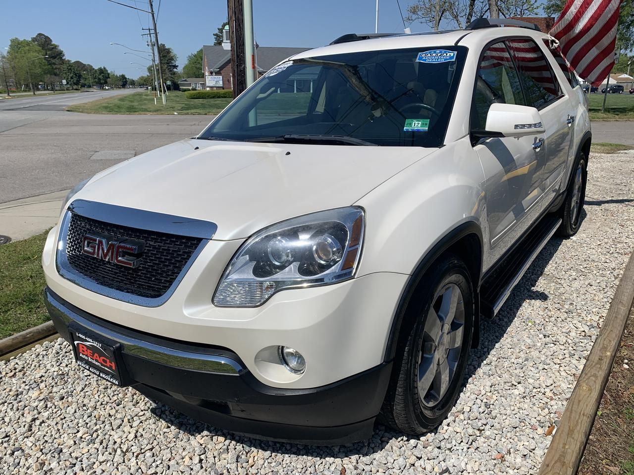 2011 GMC ACADIA SLT2, WARRANTY, LEATHER, 3RD ROW, NAV, BOSE SOUND, BLUETOOTH, BACKUP CAM, SUNROOF, CLEAN CARFAX! Norfolk VA