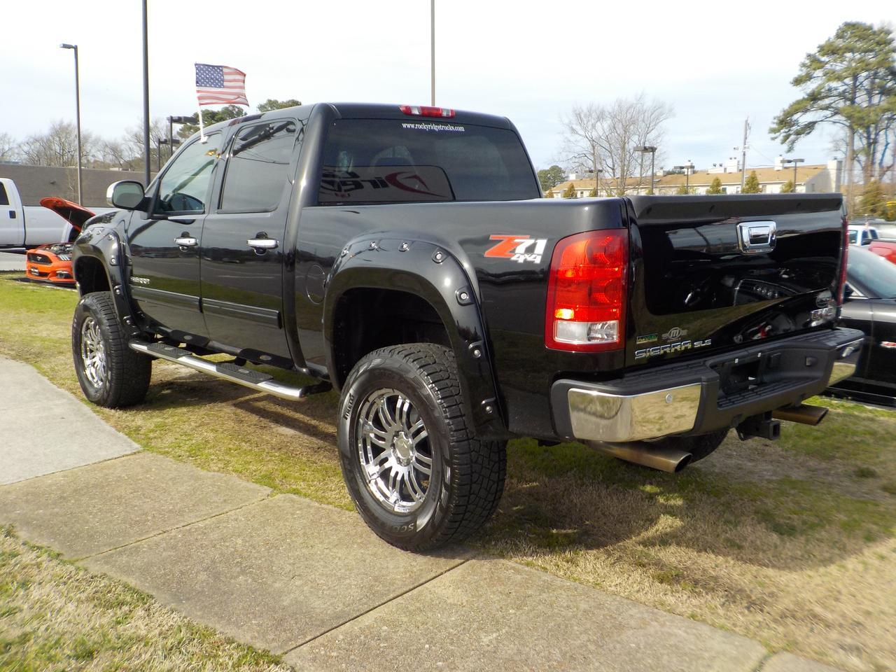2011 GMC SIERRA SLT Z71 4X4, WARRANTY, LEATHER ,LIFTED, PARKING SENSORS, RUNNING BOARDS, REMOTE START, FENDER FLARES Virginia Beach VA