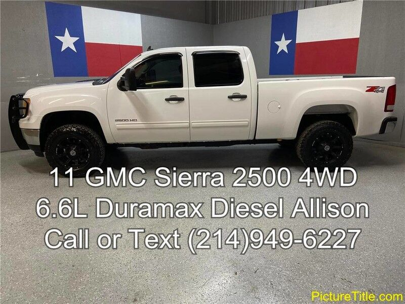 2011 GMC Sierra 2500HD 2011 4WD 6.6L Duramax Diesel Wheels BF Goodrich Tires Arlington TX