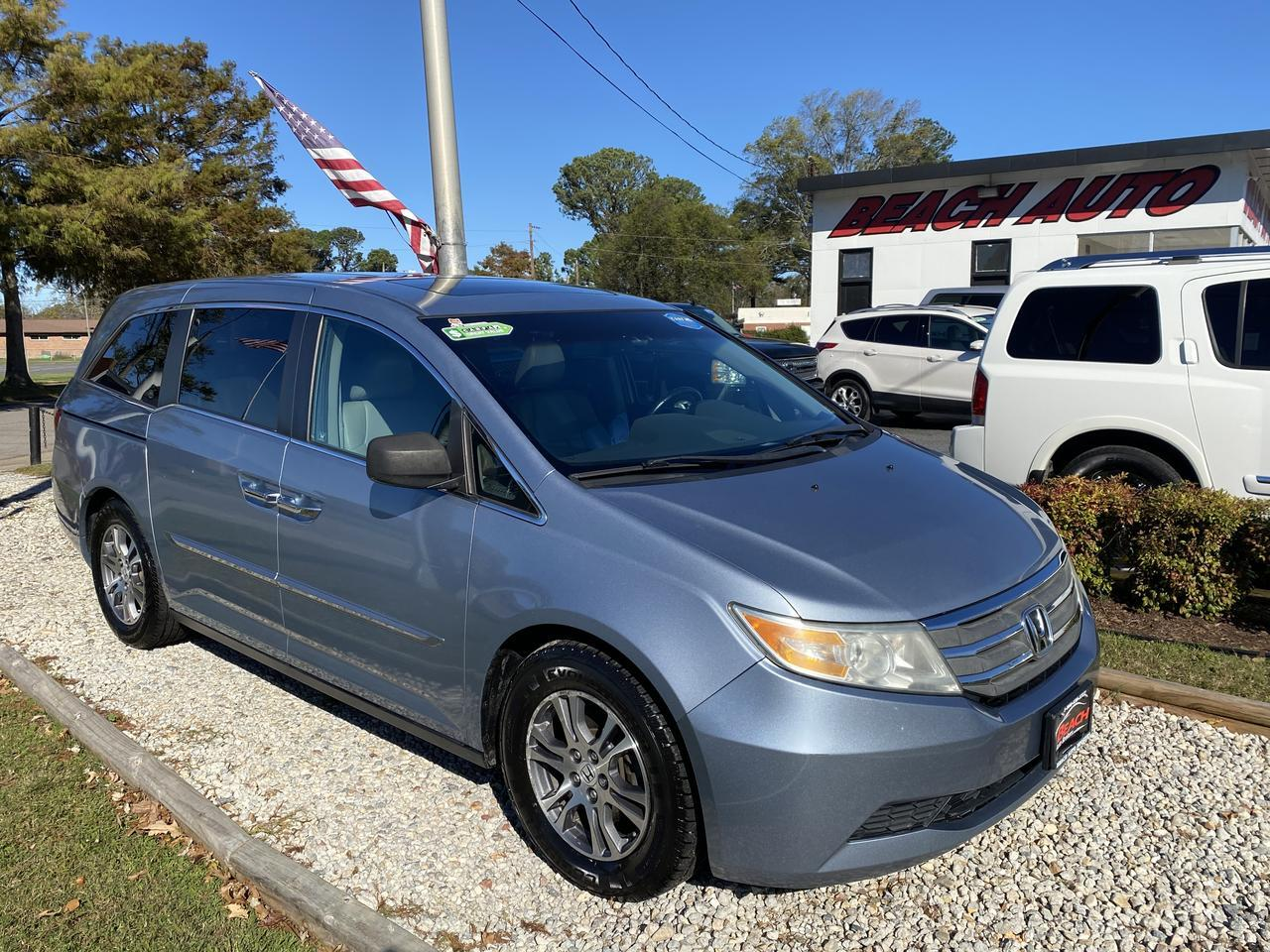 2011 HONDA ODYSSEY EX-L, WARRANTY, LEATHER, DVD PLAYER, CAPTAINS CHAIRS, BLUETOOTH, BACKUP CAM, 1 OWNER, CLEAN CARFAX! Norfolk VA