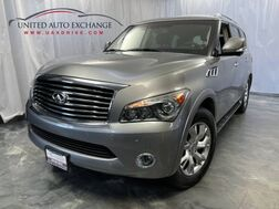 2011_INFINITI_QX56_7-passenger 3rd Row Seats / 5.6L V8 Engine / 4WD / Push Start / Navigation / Bluetooth / Sunroof / Rear Entertainment / BOSE Premium Sound System / 3560 View Camera / Parking Sensors_ Addison IL