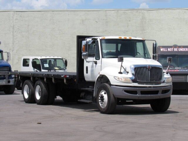 2011 International DuraStar 4400 24' Moffett Flatbed Miami FL