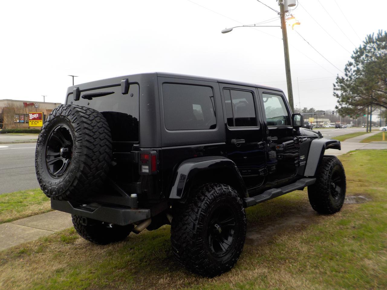 2011 JEEP WRANGLER SAHARA UNLIMITED 4X4, WARRANTY, CUSTOM BLACK XD SERIES RIMS, REMOTE START, HARD AND SOFT TOP! Virginia Beach VA