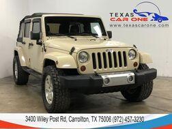 2011_Jeep_Wrangler_UNLIMITED SAHARA 4WD SOFT TOP CONVERTIBLE LEATHER HEATED SEATS C_ Carrollton TX